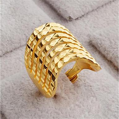 billige Motering-Dame Åpne Ring 1pc Gull 18 K gull fylt Geometrisk Form Stilfull Gave Daglig Smykker geometriske Lykkelig Smuk