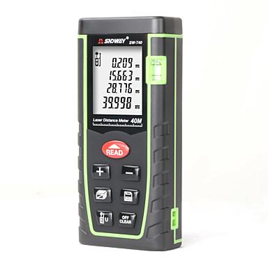 voordelige Test-, meet- & inspectieapparatuur-sndway sw-t40 40 m handheld laser afstandsmeter afstandsmeter trena laser afstandsmeter laser meetlint afstand tool