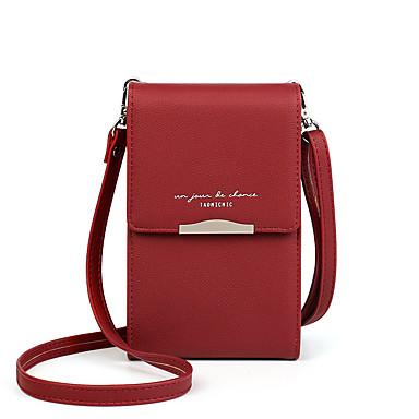 abordables Sacs-Femme PU Mobile Bag Phone Couleur unie Rose Claire / Gris / Jaune