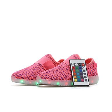 6a40193e1 للصبيان / للفتيات جلد ظبي / Flyknit أحذية رياضية أحذية مضيئة المشي LED أحمر  / أخضر / أزرق الربيع / الصيف / مطاط
