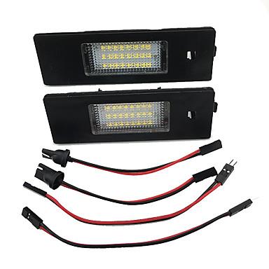 2pcs המכונית הוביל מספר רשיון לוח אור לא שגיאה הוביל תאורת המנורה עבור bmw e87 e81 e63 e64 e85 e86 f12