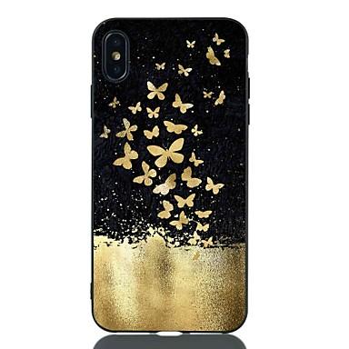 hesapli iPhone Kılıfları-Pouzdro Uyumluluk Apple iPhone XS / iPhone XR / iPhone XS Max Şoka Dayanıklı / Temalı Arka Kapak Kelebek Yumuşak TPU