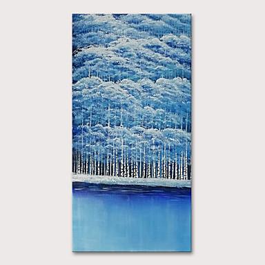 ציור שמן צבוע-Hang מצויר ביד - L ו-scape נוף אבסטרקט מודרני כלול מסגרת פנימית