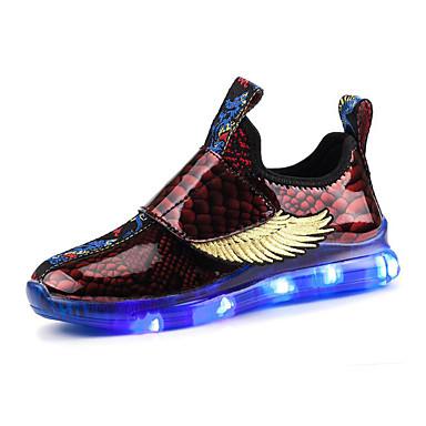 voordelige Babyschoenentjes-Jongens / Meisjes Oplichtende schoenen Microvezel Sneakers Kinderen / Peuter Zwart / Rood / Blauw Lente / Herfst / Kleurenblok / Rubber