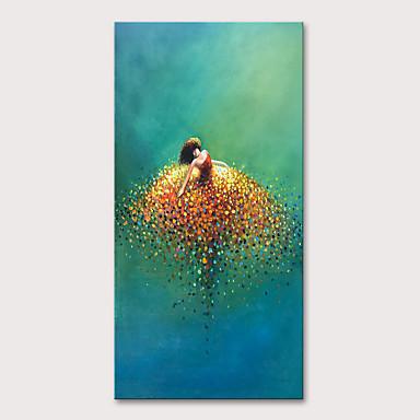 povoljno Dom i vrt-Hang oslikana uljanim bojama Ručno oslikana - Ljudi Pop art Moderna Uključi Unutarnji okvir