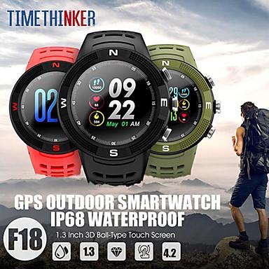 stf18 gps לצפות גברים ספורט חכם לצפות כושר גשש קצב הלב צג לשחות מעקב ip68 smartwatch להתחבר ios טלפון אנדרואיד