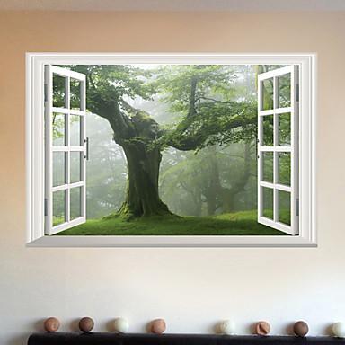 עץ יצירתי - מדבקות קיר - מילים&אמפר ציטוטים קיר מדבקות תווים חדר לימוד / משרד / חדר אוכל / מטבח