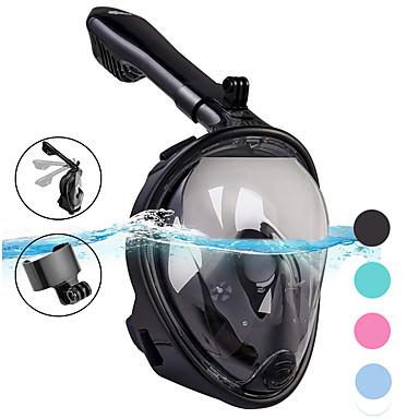 Ronjenje Maske Maske za cijelo lice Jedan prozor - Plivanje Silikon - Za Odrasli Zelen / 180 stupnjeva / Bez curenja / Anti-Magla / Sprječava ulazak vode
