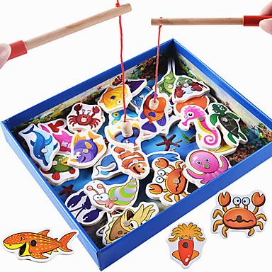 LITBest מקל מתחים דגים אינטראקציה בין הורים לילד עץ 1 pcs בגדי ריקוד ילדים כל צעצועים מתנות