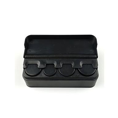שחור מכונית פלסטיק מארגן מטבע במקרה רופף שינוי אחסון תיבת מיכל בעל כסף
