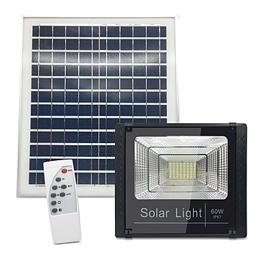 abordables Éclairage Extérieur-1pc 60 W Projecteurs LED / Eclairages extérieurs muraux Imperméable / Télécommandé / Solaire Blanc 3.2 V Eclairage Extérieur / Cour / Jardin 80 Perles LED