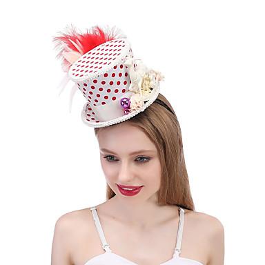 お買い得  パーティー用ヘッドピース-シルク / 羽毛 帽子 とともに フェザー / フラワー / トリム 1個 結婚式 / パーティー/フォーマル かぶと