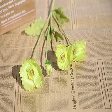 פרחים מלאכותיים 20 ענף קלאסי מסוגנן פָּרָג פרחים לשולחן