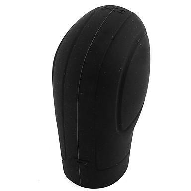 voordelige Auto-interieur accessoires-zachte siliconen antislip pookknop versnellingspookhoes beschermer met trepanning ontwerp - zwart