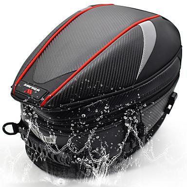 abordables Accessoires Intérieur de Voiture-wosawe sac de moto bagages réservoir de selle moto queue sac siège arrière sac de moto sac à bandoulière sac à dos léger imperméable réfléchissant haute visibilité