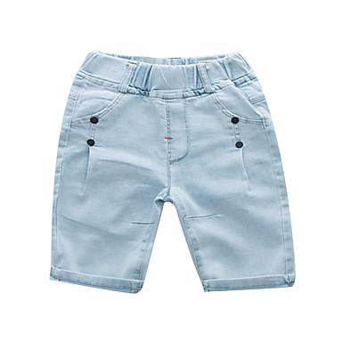 baratos Jeans Para Meninos-Infantil Para Meninos Básico Moda de Rua Sólido Patchwork Algodão Jeans Cinzento