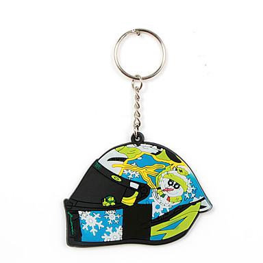 voordelige Auto-interieur accessoires-mini motorfiets sleutelhanger fashion design rubber sleutelhanger hanger voor de belangrijkste decoratie