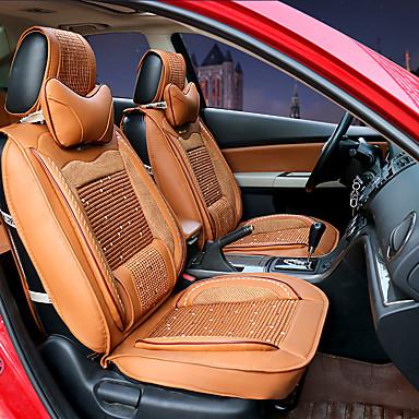 voordelige Auto-interieur accessoires-Auto-stoelhoezen Hoofdsteun en taille kussensets Beige / Geel / Koffie Leder Sport Voor Universeel