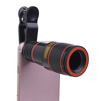 voordelige Microscopen & Endoscopen-universele clip-on 8x optische zoom hd monoculaire telescoop cameralens voor mobilephone tablet