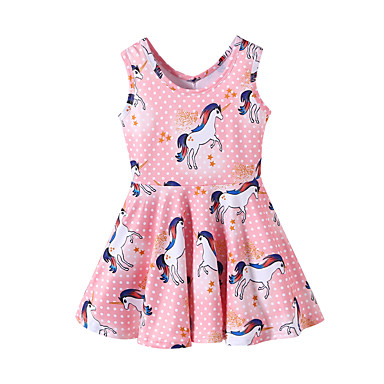 7b6ef48f7c3a cheap Girls' Dresses-Kids Toddler Girls' Sweet Cute Horse
