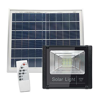 1pc 40 W תאורה שוטפת לד / תאורת קירות חוץ עמיד במים / נשלט מרחוק / סולרי לבן 3.2 V תאורת חוץ / חָצֵר / גן 60 LED חרוזים