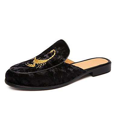 בגדי ריקוד גברים נעלי נוחות סוויד אביב קיץ / סתיו חורף יום יומי סוגי כפכפים נושם שחור / כחול