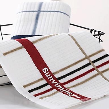 איכות מעולה מגבת רחצה, משובץ / משבצות כותנה טהורה חדר אמבטיה 2 pcs