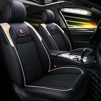 voordelige Auto-interieur accessoires-5 zitplaatsen vier seizoenen universele autostoelhoes / ijszijde materiaal en pu leer / airbag compatibiliteit / verstelbaar en afneembaar