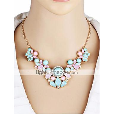 levne Dámské šperky-Dámské Náhrdelníky s přívěšky Květinový Hruška Cikánské Módní Zirkon Pryskyřice Chrome Duhová 53 cm Náhrdelníky Šperky 1ks Pro Street Dovolená