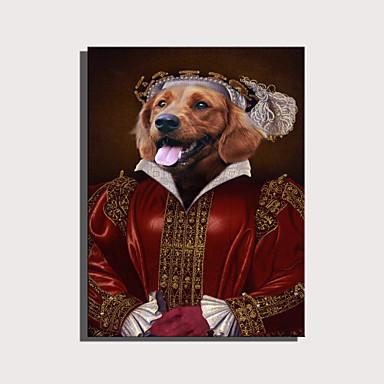 abordables Toiles-e-home toile tendue art série d'animaux mignons - rouge habillé décoration chien aristocratique peinture un pcs