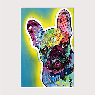 billige Trykk-Trykk Valset lerretskunst - Dyr Kæledyr Moderne Kunsttrykk