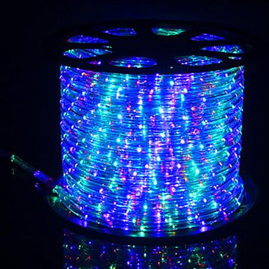 billige LED Strip Lamper-1m Fleksible LED-lysstriper 28 LED Dip Led Varm hvit / Naturlig hvit / Blå Kreativ / Neon Elektroluminescerende Wire / Kunstig Blomst 220 V 1set
