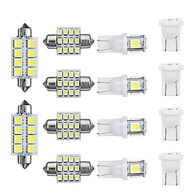 Недорогие Освещение салона-14 шт. T10 светодиодный интерьер автомобиля купол лампы для чтения лампочки на крыше номерного знака лампы
