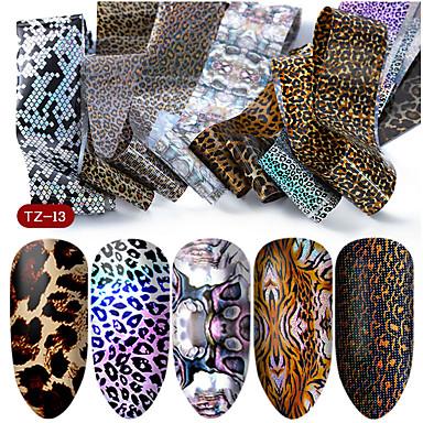 hnuix 10 kleuren nail art ster transfer papier hete verkoop regenboog hemel japanse stijl nagelfolie sticker nagellak zelfklevende sticker