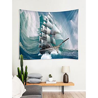 Kumsal Teması Duvar Dekoru %100 Polyester Modern Duvar Sanatı, Duvar Halılar Dekorasyon