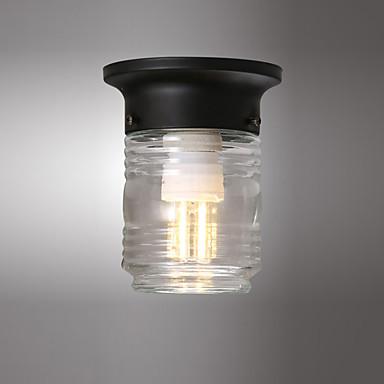Mini tavan ışık yuvarlak kolye ışık gömme montaj ışıkları ortam ışığı koridor balkon bodrum için boyalı metal bitirir