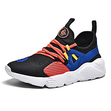 Erkek Ayakkabı Örümcek Ağı İlkbahar yaz Sportif Atletik Ayakkabılar Koşu Dış mekan için Siyah / Navy Mavi / Kırmzı