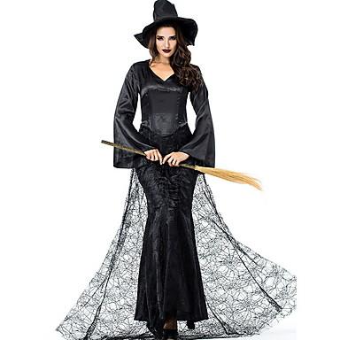 Sihirli Kadınlar Kostüm Kadın's Peri Masalı Teması Cadılar Bayramı Performans Kostümler Kadın's Dans kostümleri Polyester Dantel