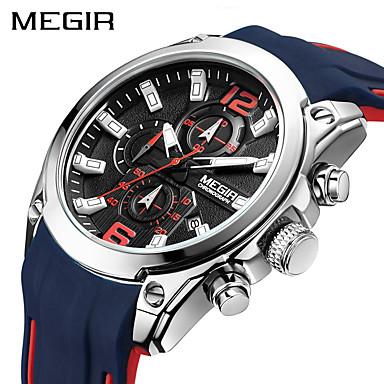 baratos Relógios Homem-Megir homens assistir luxo cronógrafo impermeável esporte masculino relógio de borracha militar exército relógio de pulso