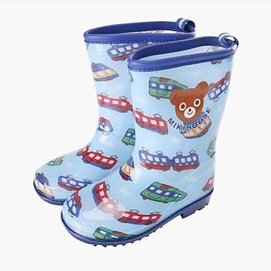 povoljno Dječje čizme-Djevojčice PVC Čizme Mala djeca (4-7s) / Velika djeca (7 godina +) Čizme za kišu Bijela / Plava / Pink Proljeće / Čizme do pola lista