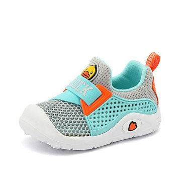baratos Sapatos de Criança-Para Meninos Sintéticos Tênis Criança (9m-4ys) / Little Kids (4-7 anos) Conforto Preto / Azul Claro Verão