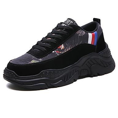 Erkek Ayakkabı PU İlkbahar yaz İngiliz / Çıtı Pıtı Atletik Ayakkabılar Günlük / Dış mekan için Siyah / Kırmzı / Gri