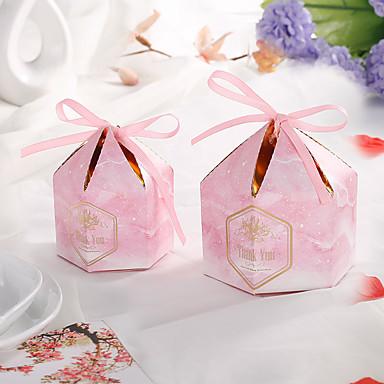abordables Support de Cadeaux pour Invités-Cylindre Papier durci Titulaire de Faveur avec Ruban Boîtes Cadeaux / Soin des Cheveux - 50pcs