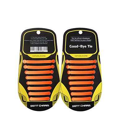 abordables Accessoires pour Chaussures-2pcs Silicone Lacet Unisexe Toutes les Saisons Sport & Loisir / Décontracté Noir / Jaune Foncé / Gris foncé