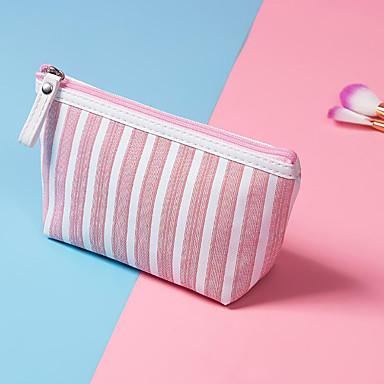 billige Vesker-polyester Glidelås Kosmetisk Bag Fargeblokk Daglig Brun / Himmelblå / Rosa / Høst vinter