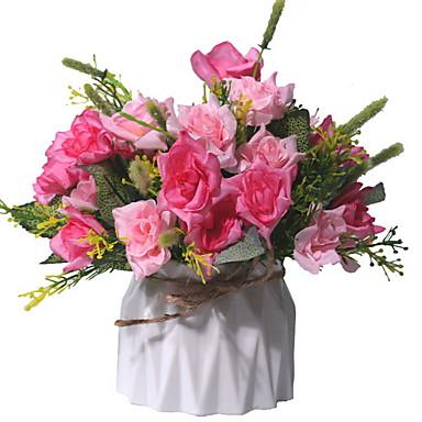 billige Kunstige blomster-Kunstige blomster 1 Afdeling Klassisk Moderne Moderne Evige blomster Bordblomst