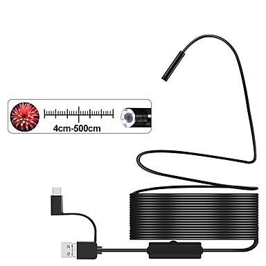 voordelige Test-, meet- & inspectieapparatuur-3-in-1 semi-rigide usb-endoscoopcamera 8 mm ip68 waterdichte slangcamera met 8 leds voor windows en macbook pc-android-endoscoop (10 m lengte)