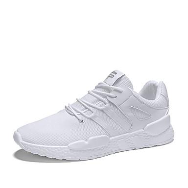 Erkek Ayakkabı Örümcek Ağı / PU Sonbahar Sportif Atletik Ayakkabılar Koşu Atletik için Siyah / Beyaz / Bej