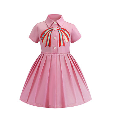 311eb2a9d cheap Girls' Dresses-Kids Girls' Basic Solid Colored Short