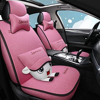 voordelige Auto-interieur accessoires-mooie cartoon vier seizoenen autostoelhoes met 2 kussens en 2 heupkussens voor 5-zits auto / linnen materiaal / airbag compatibiliteit / verstelbaar en afneembaar / gezinsauto / suv